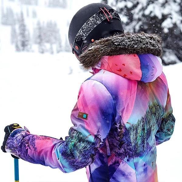 Women's Gsou Snow 15k Mountain Landscape Snowboard Jacket