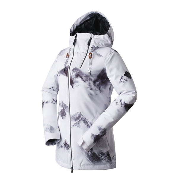Women's Gsou Snow 20k Alpine Mountain Elite Ski Snowboard Jacket - White - snowverb
