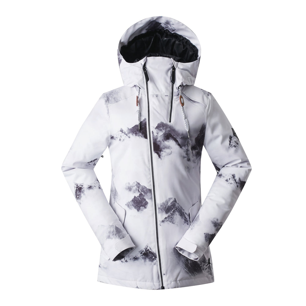 Women's Gsou Snow 20k Alpine Mountain Elite Ski Snowboard Jacket - White