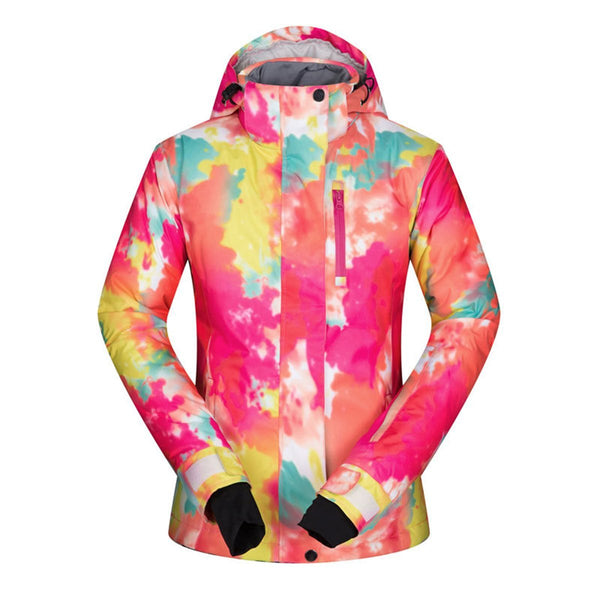 Women's Mutu Snow Brightly Colored Insulated Snowboard Jacket - snowverb