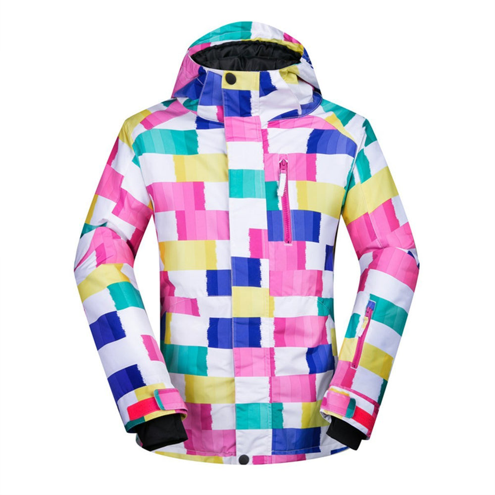 Women's Mutu Snow Colorful Paints Insulated Snowboard Jacket
