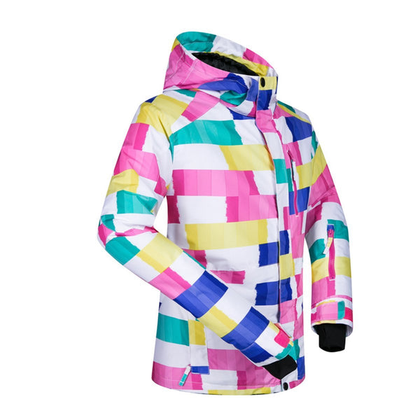 Women's Mutu Snow Colorful Paints Insulated Snowboard Jacket - snowverb