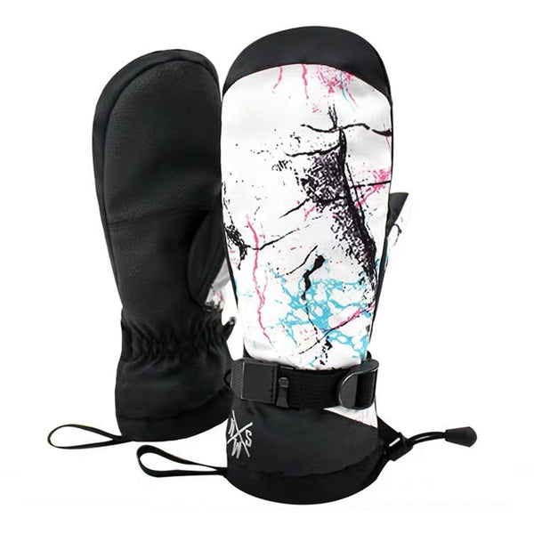 Women's New Fashion Colorful Waterproof Snowboard Mitten - snowverb