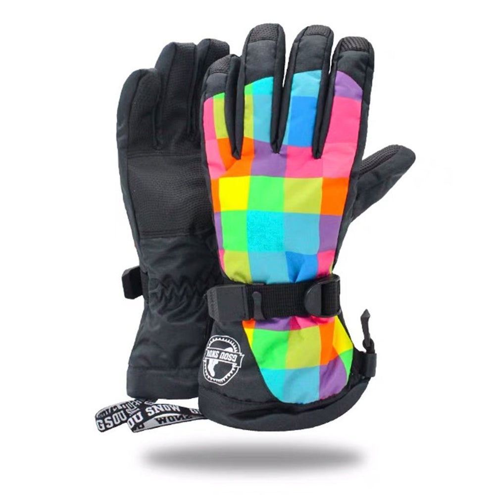 Women's Rainbow Waterproof Ski Gloves