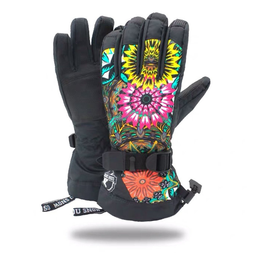 Women's Sunflower Waterproof Ski Gloves