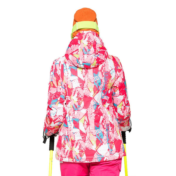 Women's Wild Snow Pink Vally Insulated Ski Jacket - snowverb