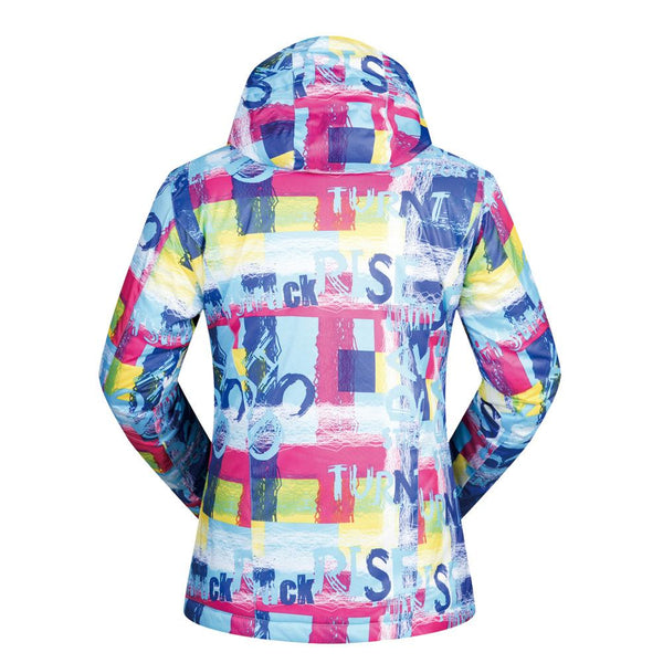 Women's Wild Snow Words Insulated Ski Jacket - snowverb