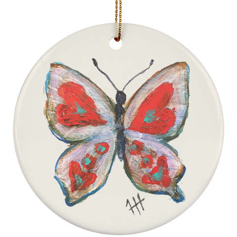 Heart Wings Butterfly Ornament