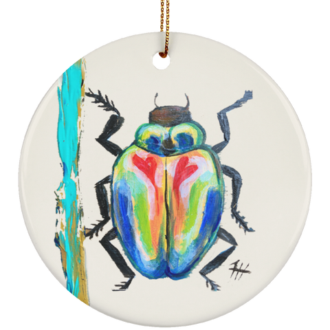 Rainbow Beetle Ornament