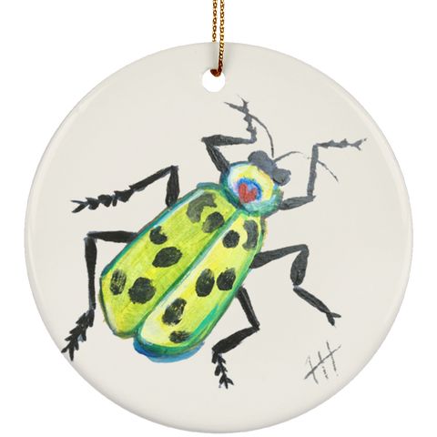 Green Beetle Ornament