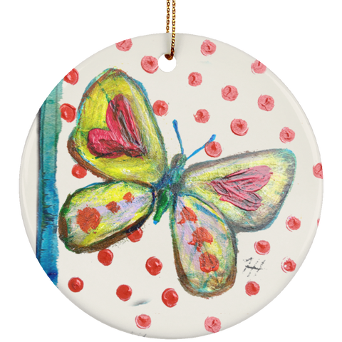 Chartreuse Butterfly Ornament