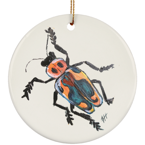Fire Beetle Ornament