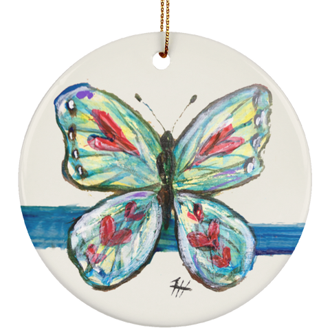 BlueStripe Butterfly Ornament