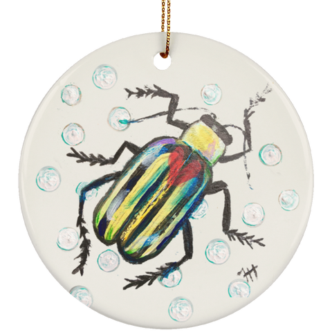 Stripey Beetle Ornament