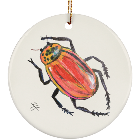Ruby Beetle Ornament