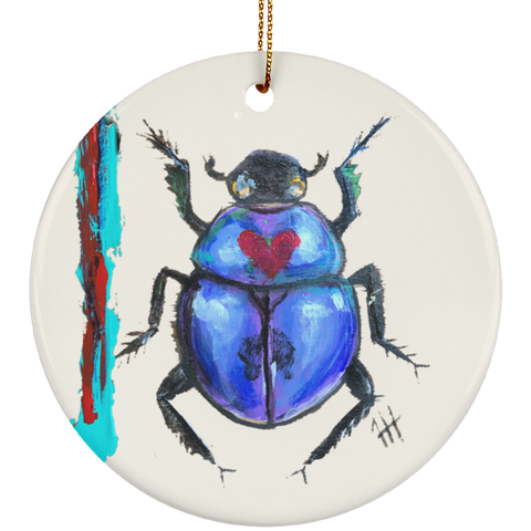 Blue-ti-ful Beetle Ornament