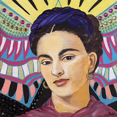 Pop Art, Frida Phoenix, 12x12 (SOLD)