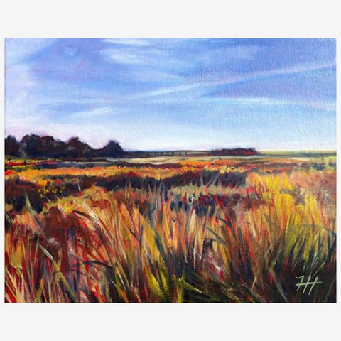 Blustery Wheat Field, Print