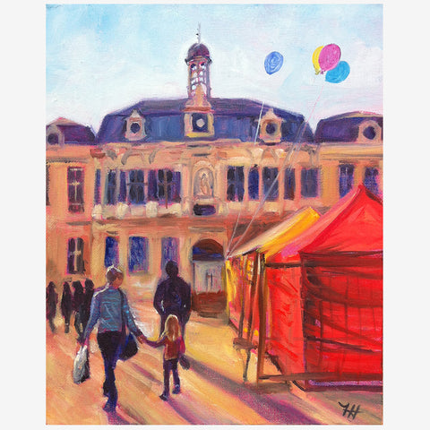 Castles and Balloons, Print