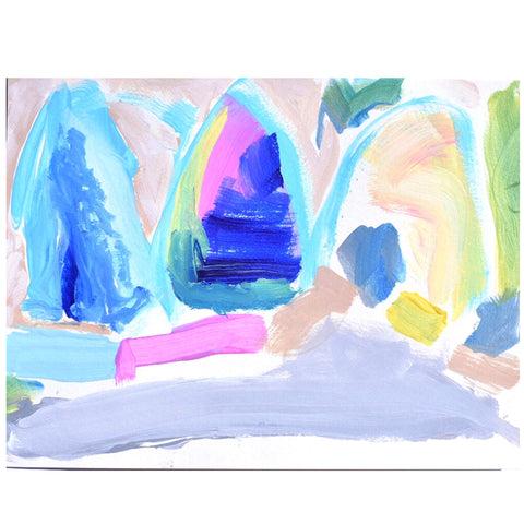 Mountain Caves, on thick archival watercolor paper, 9 x 11, $95