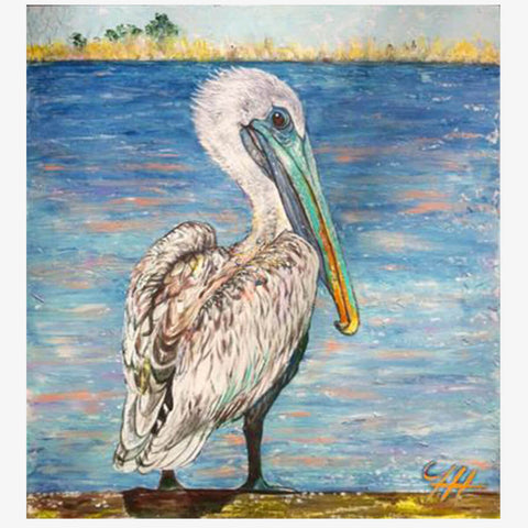 Pelican Pose (SOLD), 36 x 30