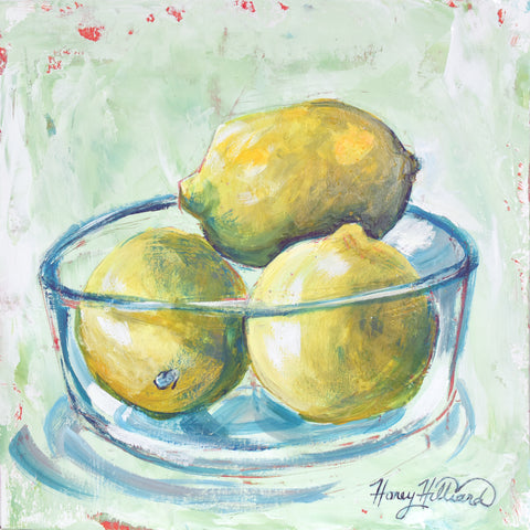 Bowl of Lemons, 12 x 12 x 2.5 deep