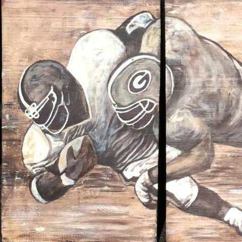 Football Triptych, 30x60 (SOLD)