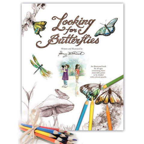 Looking for Butterflies, with Colored Pencils Bundle and Mini Sketchbook