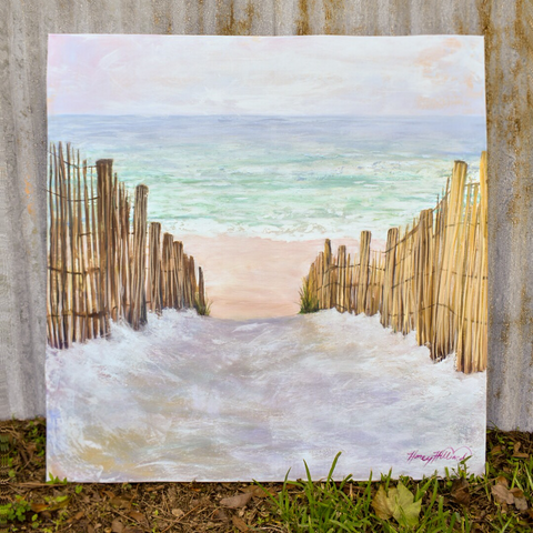 Lavender Sands, 36 x 36 stretched canvas