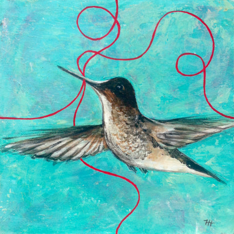 Hummingbird, 12x12 (SOLD)