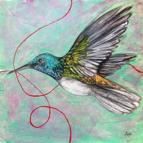 Green Wings, 12x12 (SOLD)