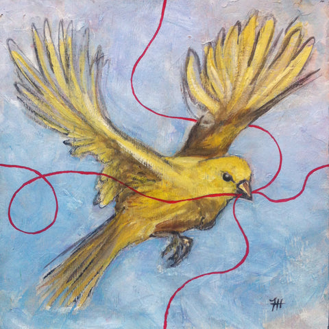 Yellow Bird, 12x12