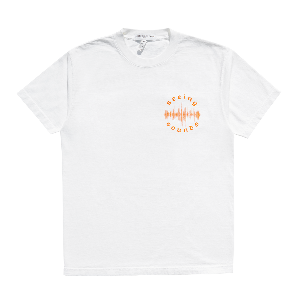 SEEING SOUNDS ORANGE T-SHIRT