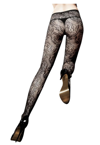 Floral Black Lace Pantyhose **These are amazing for photoshoots!