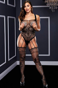Bodystocking Strappy Gartered