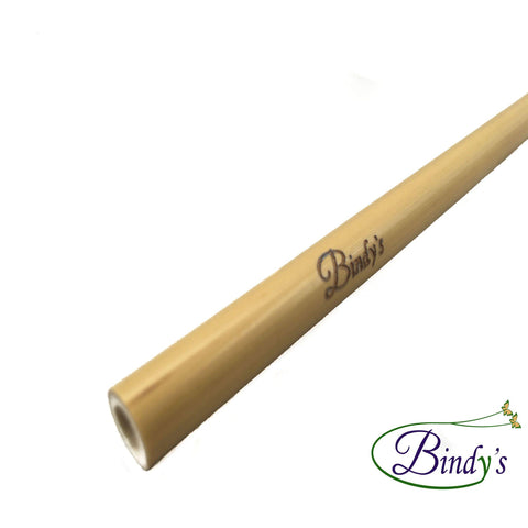 Bindy's bamboe rietje met Bindy's logo