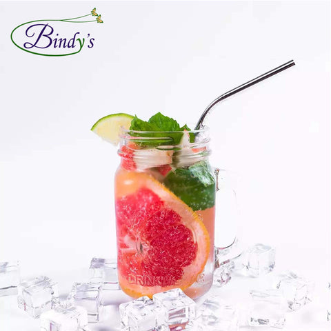 rvs rietje in smoothie glas