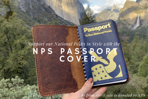 Leather National Park Passport Cover