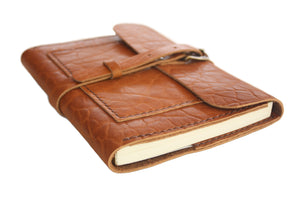 Leather Writing Journal in Camel