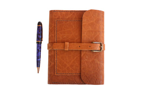 Open image in slideshow, Leather Writing Journal in Camel
