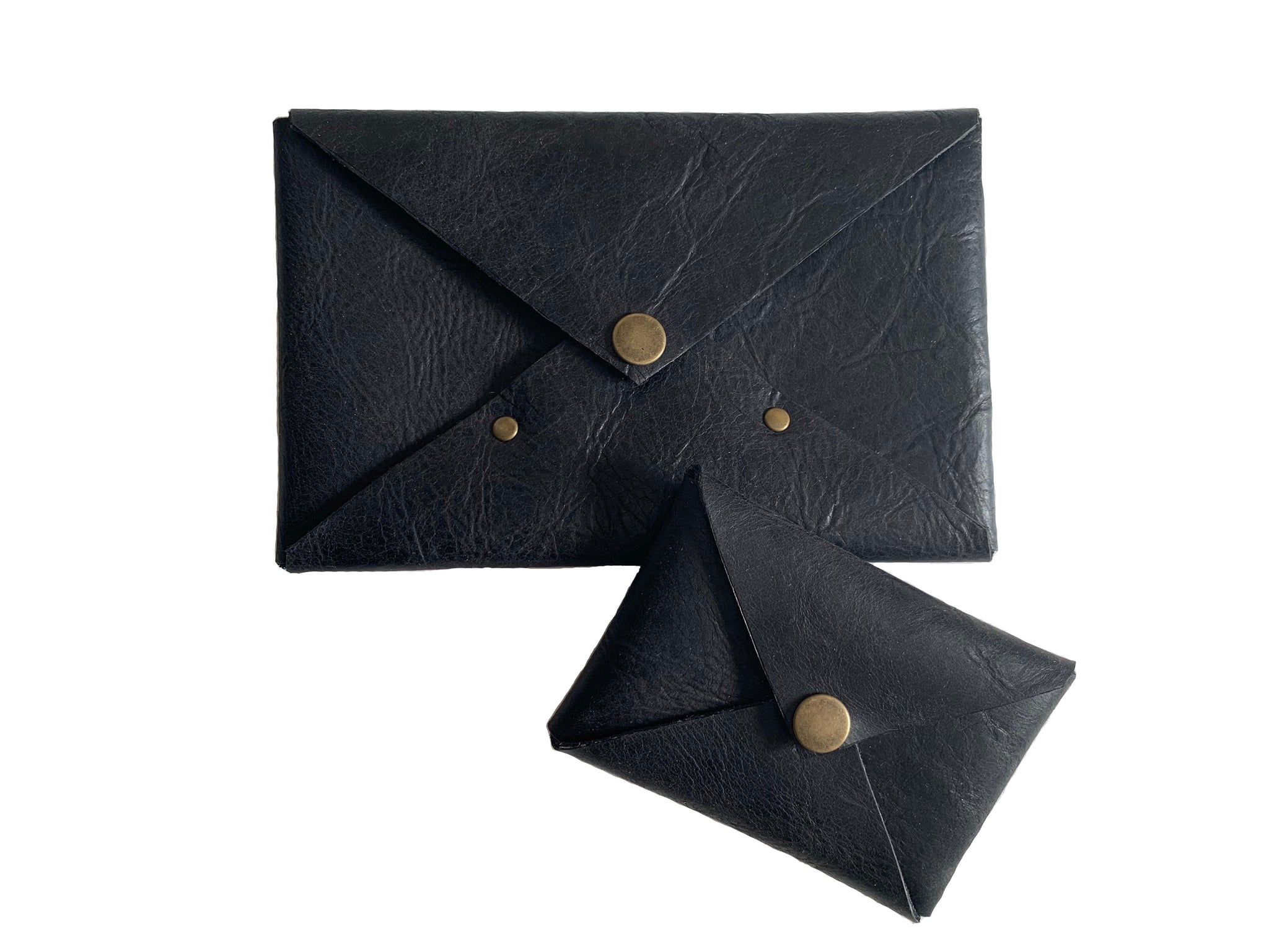 Leather Gift Ideas | Envelope Gift Set in Black