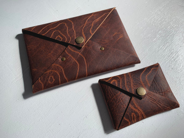 Topographic Envelope Wallets by Heist