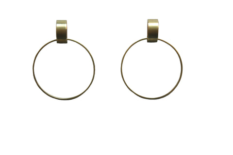 Heist Front Facing Hoop Earrings
