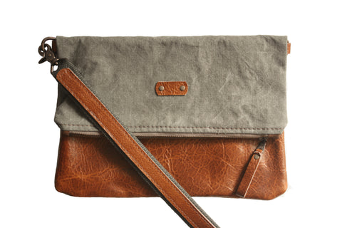 Canvas Foldover Crossbody