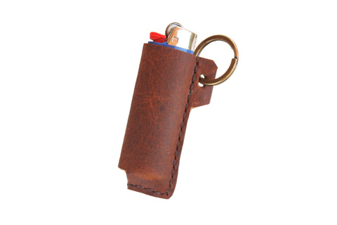 Heist Leather Lighter Case in Rust