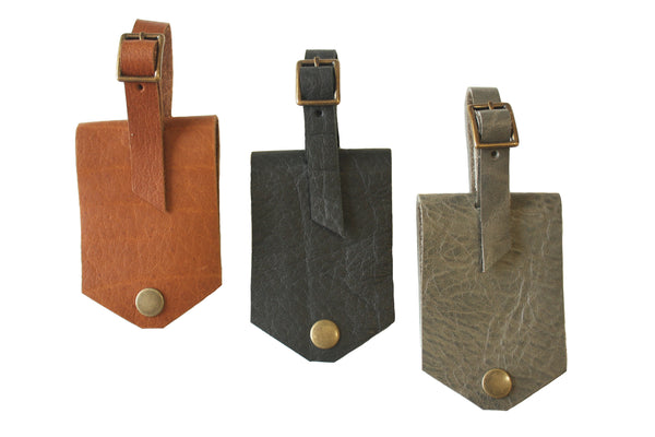 Leather Luggage Tags by Heist