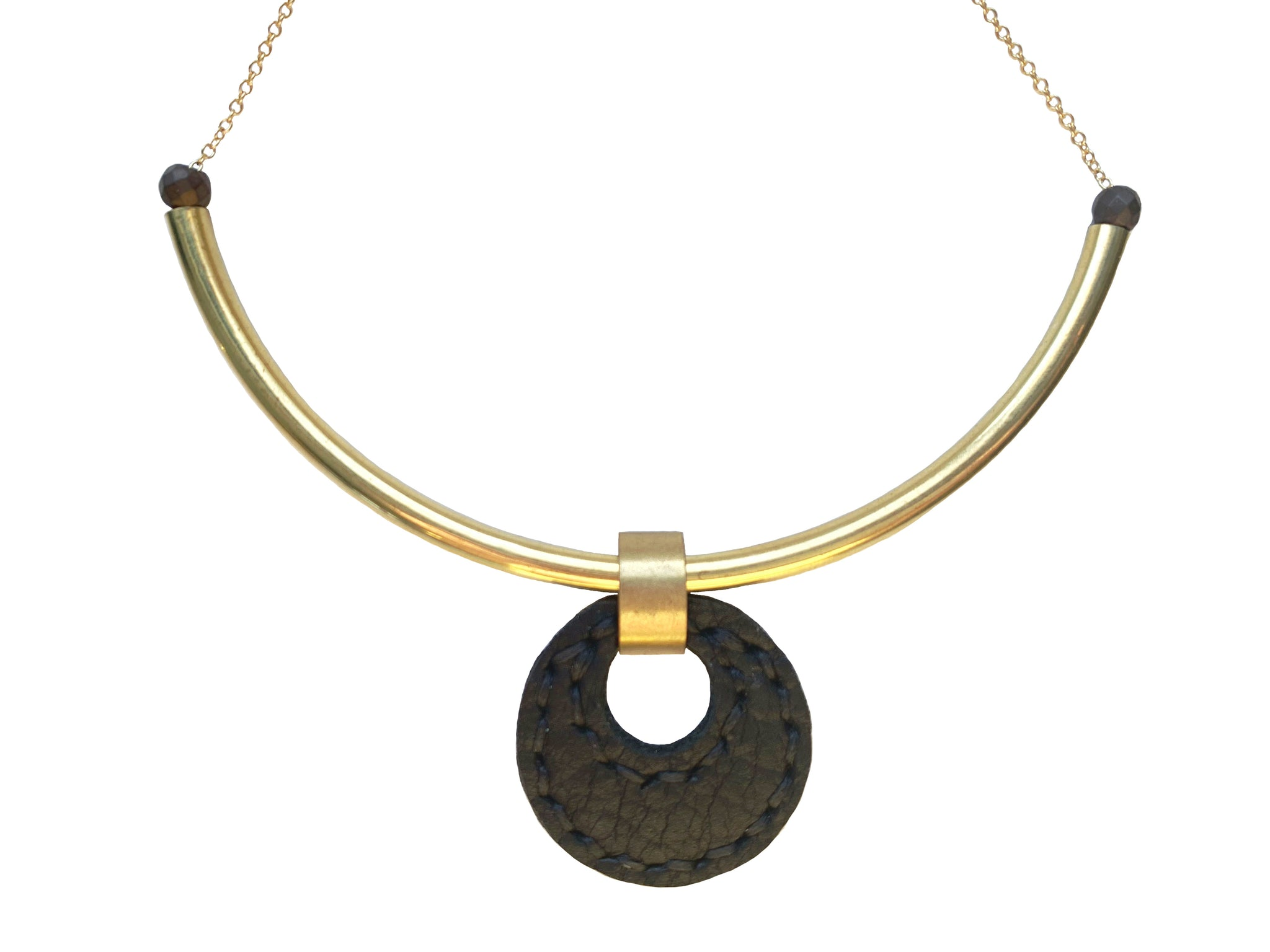 Majeure Leather Choker in Black