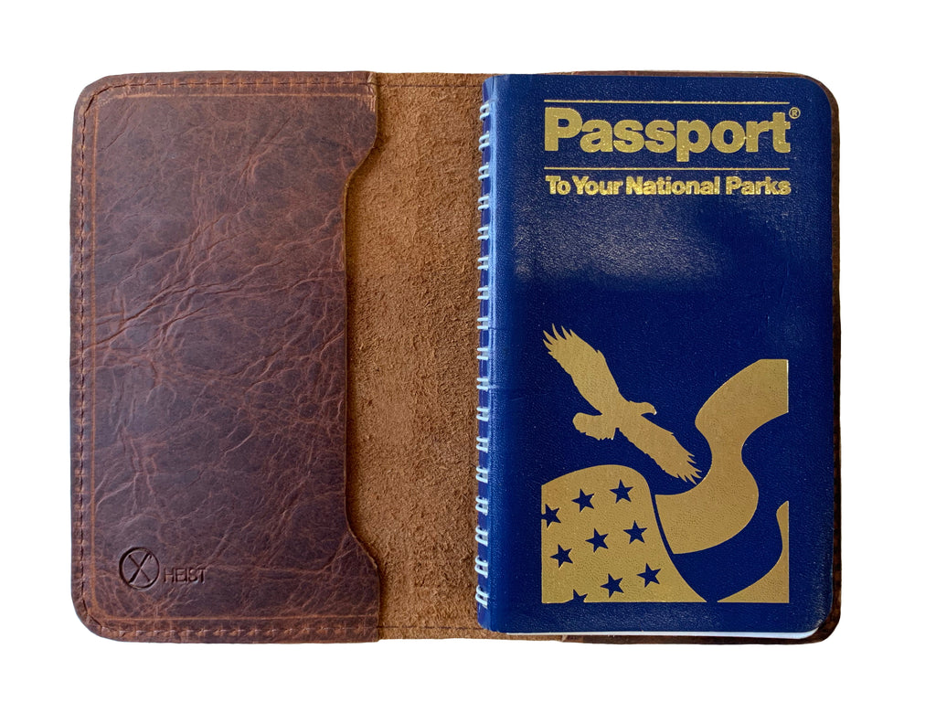Passport to Your National Parks Leather Cover - Rust
