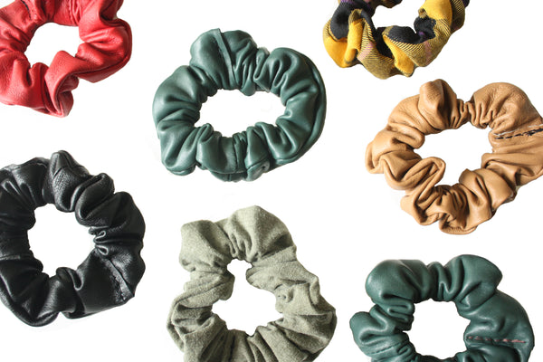 Leather Scrunchies
