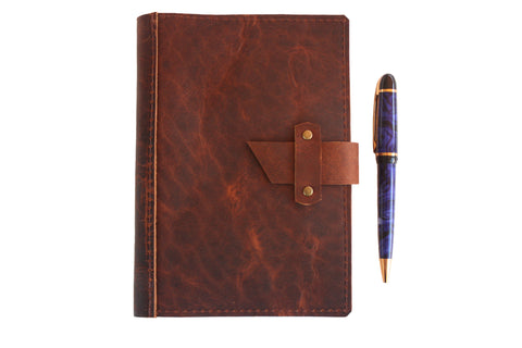 Dispatch Leather Journal Cover in Rust by Heist